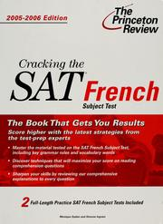 Cover of: Cracking the SAT.