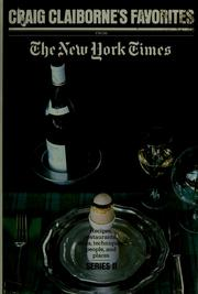 Cover of: Craig Claiborne's favorites from The New York times, v. 2.