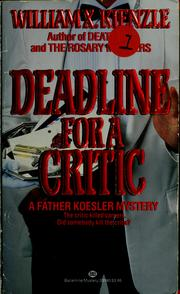 Cover of: Deadline for a critic