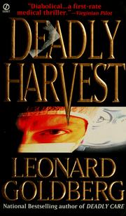 Cover of: Deadly harvest