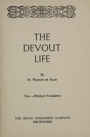 Cover of: The devout life: New abridged translation.