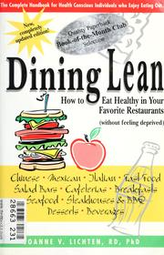 Cover of: Dining lean: how to eat healthy in your favorite restaurants