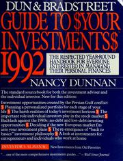 Cover of: Dun & Bradstreet guide to $your investments$: 1992