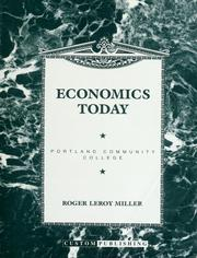 Cover of: Economics today for Portland Community College
