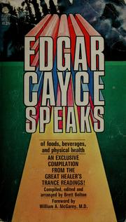 Cover of: Edgar Cayce speaks