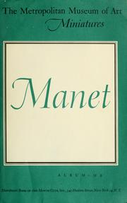 Cover of: Edouard Manet, 1832-1883.