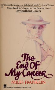 Cover of: The end of my career