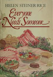 Cover of: Everyone needs someone