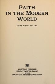 Cover of: Faith in the modern world