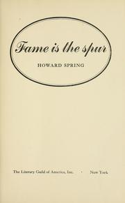 Cover of: Fame is the spur