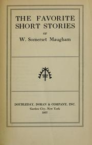 Cover of: The Favorite Short Stories of W. Somerset Maugham