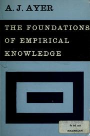 Cover of: The foundations of empirical knowledge