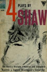 Cover of: Four plays by George Bernard Shaw