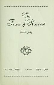 Cover of: The foxes of Harrow