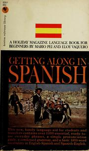 Cover of: Getting along in Spanish