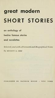 Cover of: Great modern short stories: an anthology of twelve famous stories and novelettes