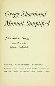 Cover of: Gregg shorthand manual simplified