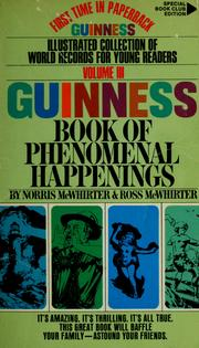 Cover of: Guinness book of phenomenal happenings