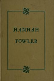 Cover of: Hannah Fowler.