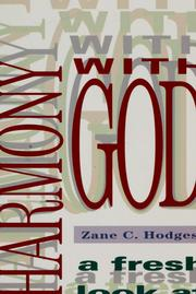 Cover of: Harmony with God: a fresh look at repentance
