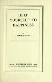 Cover of: Help yourself to happiness.