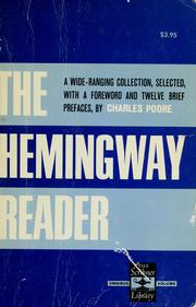 Cover of: The Hemingway reader