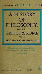 Cover of: A history of philosophy