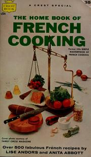 Cover of: The home book of French cooking