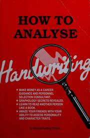 Cover of: How to analyse handwriting