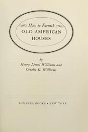 Cover of: How to furnish old American houses