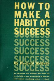 Cover of: How to make a habit of success