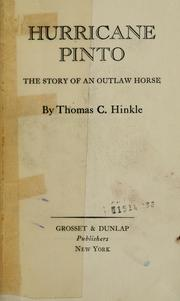 Cover of: Hurricane Pinto: the story of an outlaw horse