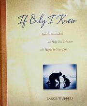 Cover of: If only I knew--