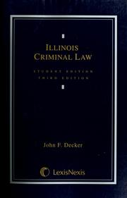 Cover of: Illinois criminal law