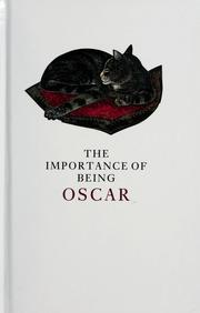 Cover of: The importance of being Oscar