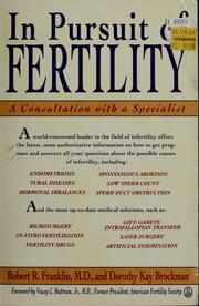 Cover of: In pursuit of fertility: a consultation with a specialist