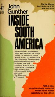Cover of: Inside South America.