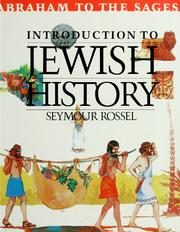 Cover of: Introduction to Jewish history: Abraham to the sages