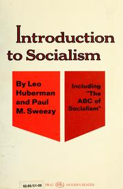 Cover of: Introduction to socialism