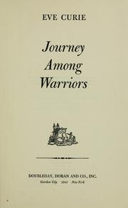 Cover of: Journey among warriors.
