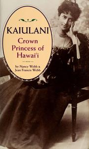 Cover of: Kaiulani, Crown Princess of Hawaï
