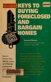 Cover of: Keys to buying foreclosed and bargain homes