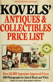 Cover of: Kovels' antiques & collectibles price list: for the 1998 market, illustrated.