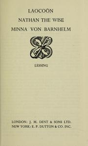 Cover of: Laocoön, Nathan the Wise, Minna von Barnhelm