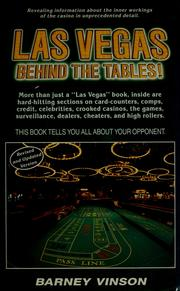 Cover of: Las Vegas behind the tables!