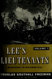 Cover of: Lee's lieutenants: a study in command