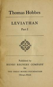 Cover of: Leviathan, part I