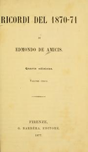 Cover of: Ricordi del 1870-71