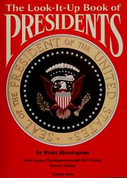 Cover of: The look-it-up book of presidents