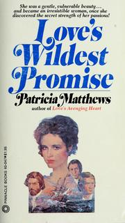 Cover of: Love's wildest promise